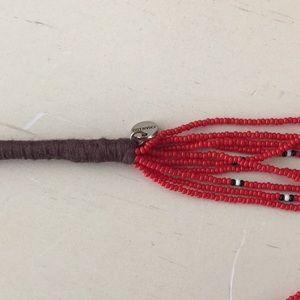 Chan Luu Jewelry - Chan Luu bead potay necklace 22inches red/black